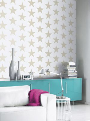 Arthouse Starry Night Wallpaper Gold and White 891300