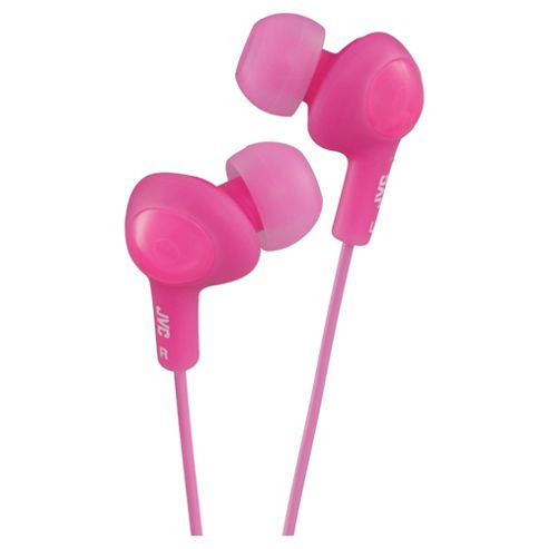 JVC HA-FX5 Gummy Plus In-Ear Headphones - Pink