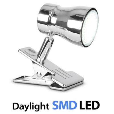 Clip-On Daylight LED Spot Light, Chrome
