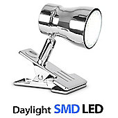 Clip-On Daylight LED Spot Light, Chrome
