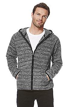 F&F Textured Fleece Zip-Through Hoodie - Grey