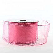 "Ribbon Organza Wired Edge - 2.5"" x 10y - Pink"