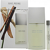 Issey Miyake L'Eau d'Issey Pour Homme Gift Set 125ml EDT + 10ml EDT Spray For Men