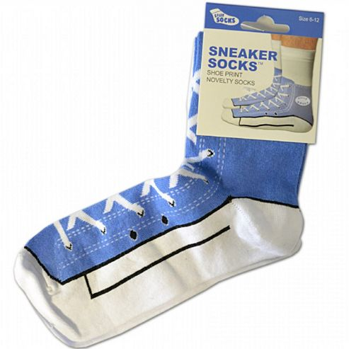 Blue Sneaker Silly Socks - UK Size 6 to 12