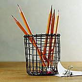 Design Ideas Cabo Pen Pot Hand Woven Wire in Vintage Finish