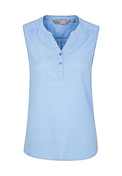 Mountain Warehouse Womens Petra Sleeveless Shirt w/ Breathable & Washable Fabric - Pale blue