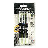 Sharpie Stylo Grip Pen - Fine Assorted 3 Pack