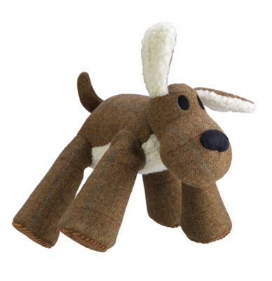 Brown Check Tweed Big Paws Dog Toy