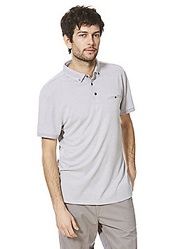 F&F Soft Touch Jersey Polo Shirt - Grey