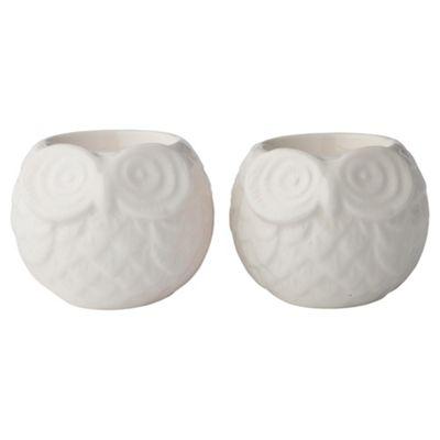 F&F Home Ceramic owls 2pk