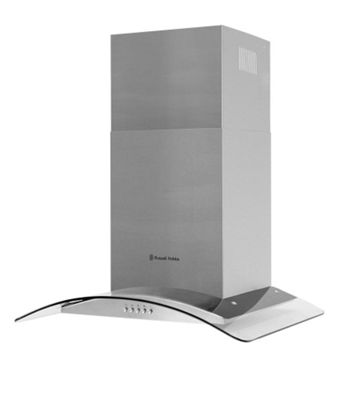 Russell Hobbs RHGCH601SS 60cm Chimney Cooker Hood - Glass/Stainless Steel