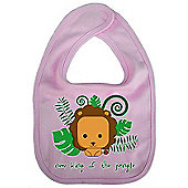 Dirty Fingers New King of the Jungle Cute Lion Bib Pink