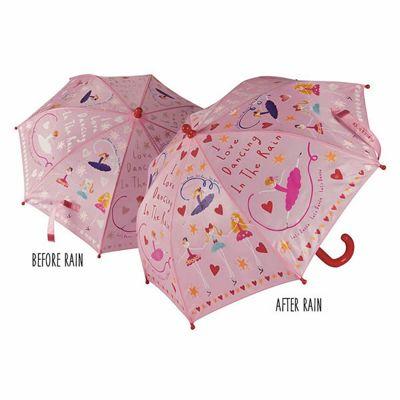 Children's Colour Changing Umbrella – Ballerina, Children's Umbrellas, Kids Umbrellas, Umbrellas for Girls