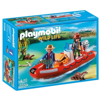 Playmobil 5559 Wildlife Adventure Tree House Inflatable Boat with Explorers