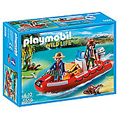Playmobil 5559 Wildife Adventure Tree House Inflatable Boat with Explorers