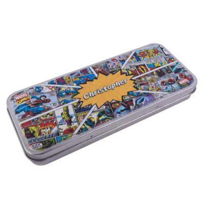 Marvel Comics Personalised Pencil Tin
