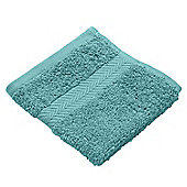 Homescapes Teal Luxury Face Cloth 500 GSM 100% Egyptian Cotton, 30 x 30 cm