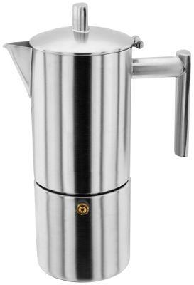 Stellar Matt Stainless Steel Espresso Maker Cafetiere 4 Cup 250ml