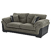 Kendal Jumbo Cord Large 3 Seater Sofa, Dark Grey