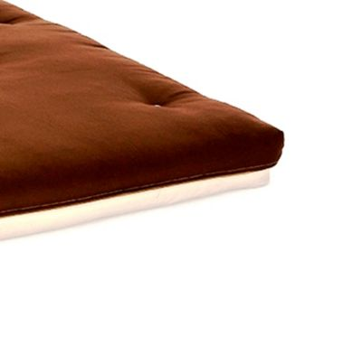 Comfy Living 4ft6 Double Futon Mattress in Chocolate & Cream