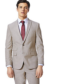 F&F Slim Fit Suit Jacket - Taupe