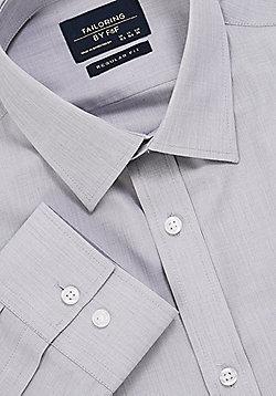 F&F Easy Care Regular Fit Long Sleeve Shirt - Grey