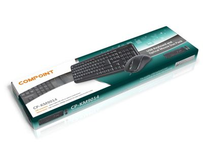 Dynamode Compoint KM9014 Multimedia Wired USB Full-size Keyboard & Optical