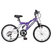 "Terrain Freemont 14"" Frame Purple Mountain Bike"