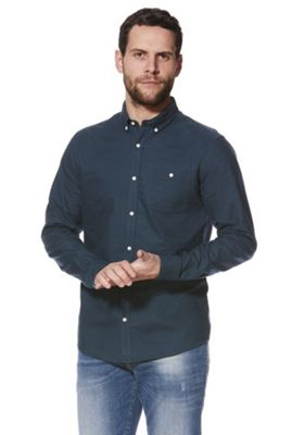 F&F Button Down Collar Oxford Shirt Teal 2XL
