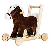 Homcom 3-in-1 Toddler Kids Ride on Toy Walker, Wheels and Handle (Horse)