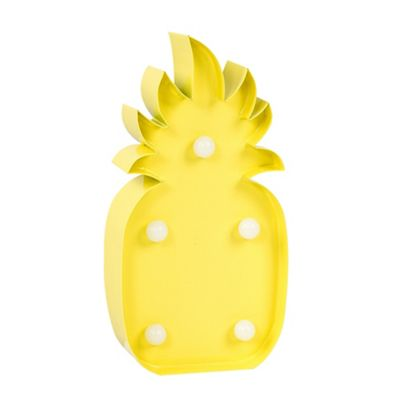 Battery Operated Novelty 15cm LED Pineapple Table Lamp