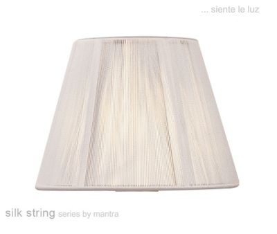 30cm Silk String Shade Ivory White