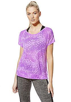 F&F Active Pineapple Burnout T-Shirt - Purple