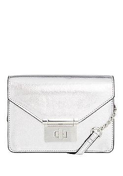 F&F Metallic Boxy Cross-Body Bag