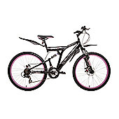 "Bronx Bolt 26"" Wheel Dual Suspension Mountain Bike Black/Pink"