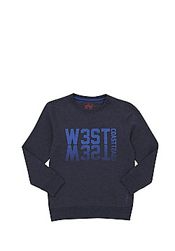 F&F West Coast Sweatshirt with As New Technology - Navy