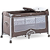 Caretero Deluxe Travel Cot (Brown)