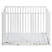 BabyDan Square Park-a-Kid Play Pen White with Urban Mat
