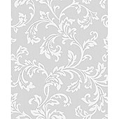 Wallpaper diy home decorating tesco cavendish scroll grey wallpaper gumiabroncs Choice Image