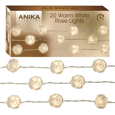Anika 20 Warm White Rose String Lights