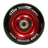 Slamm Black/Red Anodised Metal Core Scooter Wheel and Bearings