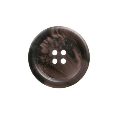 Hemline Four Hole Dark Brown Buttons 22.5mm 4pk