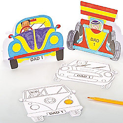 Father's Day Car Cards for Kids to Paint ,Decorate and Personalise (Pack of 8)