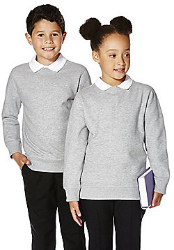 F&F School Unisex Sweatshirt with As New Technology - Light grey