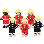 Bigjigs Toys Heritage Playset Firefighter Set