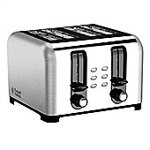 Russell Hobbs 23540 4-Slice Wide-Slot Toaster - Brushed Stainless Steel