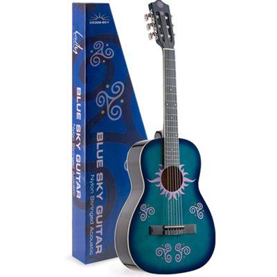 Rocket Classical 1/2 Size Guitar - Sky Blue