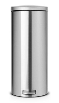 Brabantia Fingerprint Proof 30L Matt Steel Pedal Bin