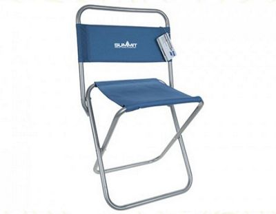 Summit Stool With Backrest Blue