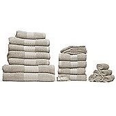 Luxury 100% Cotton 20 Piece Face Hand Bathroom Jumbo Towel Bale Set - Beige